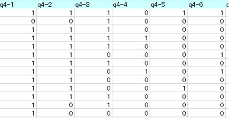 調査会社からのアンケートデータ 回答コード詳細